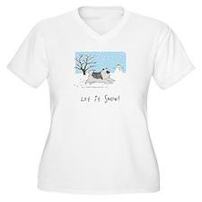 """Keesie """"Let It Snow"""" T-Shirt"""