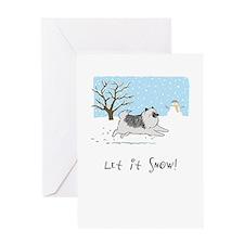 """Keesie """"Let It Snow"""" Greeting Card"""