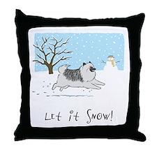 """Keesie """"Let It Snow"""" Throw Pillow"""
