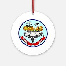 USS Coral Sea (CVA 43) Ornament (Round)