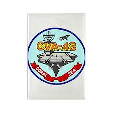USS Coral Sea (CVA 43) Rectangle Magnet