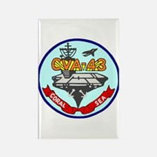 USS Coral Sea (CVA 43) Rectangle Magnet (100 pack)