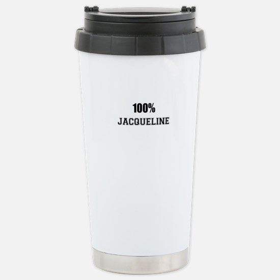 100% JACQUELINE Stainless Steel Travel Mug