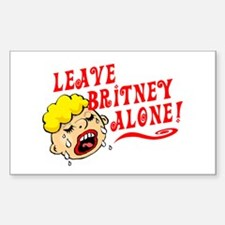 Leave Britney Alone Rectangle Decal