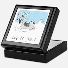 """Keesie """"Let It Snow"""" Keepsake Box"""
