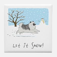 "Keesie ""Let It Snow"" Tile Coaster"