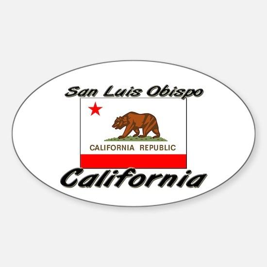 San Luis Obispo California Oval Decal