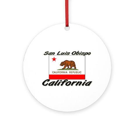 San Luis Obispo California Ornament (Round)