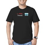 I Love Trucks Men's Fitted T-Shirt (dark)