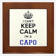 I cant keep calm Im CAPO Framed Tile