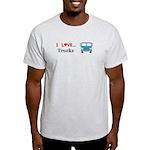 I Love Trucks Light T-Shirt