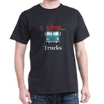 I Love Trucks Dark T-Shirt