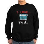 I Love Trucks Sweatshirt (dark)