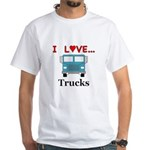 I Love Trucks White T-Shirt
