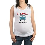 I Love Trucks Maternity Tank Top