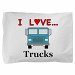 I Love Trucks Pillow Sham
