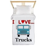 I Love Trucks Twin Duvet