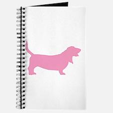 Pink Basset Hound Journal