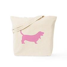 Pink Basset Hound Tote Bag