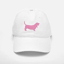 Pink Basset Hound Baseball Baseball Cap