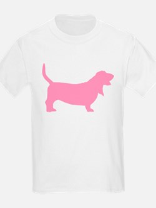 Pink Basset Hound T-Shirt