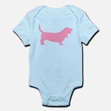 Pink Basset Hound Infant Bodysuit