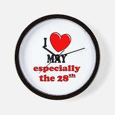 May 28th Wall Clock