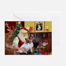 Santa's JRT Greeting Cards (Pk of 20)