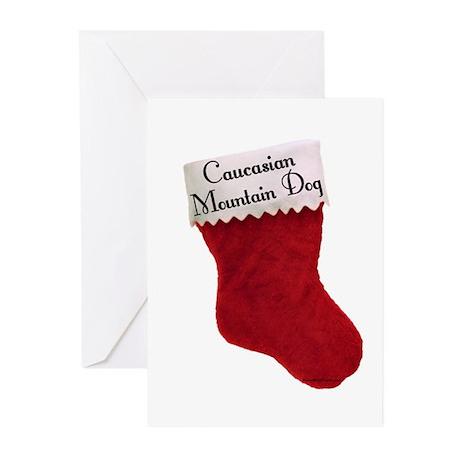 Caucasian Stocking Greeting Cards (Pk of 20)