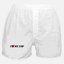 I Love My Cop Boxer Shorts