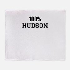 100% HUDSON Throw Blanket