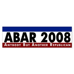 ABAR 2008 political bumper sticker