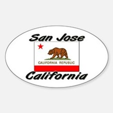 San Jose California Oval Decal