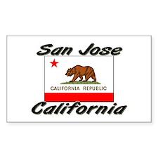 San Jose California Rectangle Decal