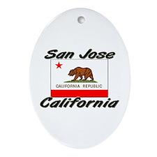 San Jose California Oval Ornament