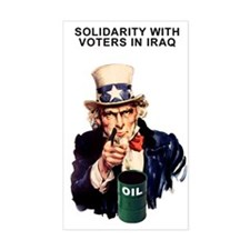 SOLIDARITY WITH VOTERS IN IRA Sticker (Rectangular