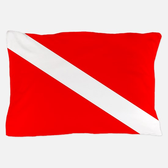 Diver Down Flag Pillow Case