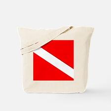 Diver Down Flag Tote Bag
