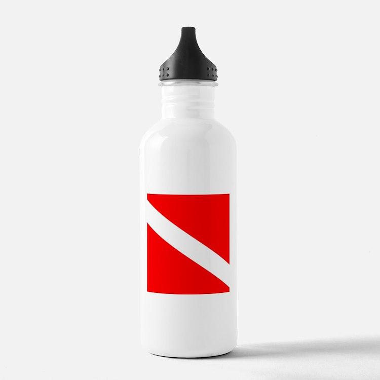 Diver Down Flag Water Bottle