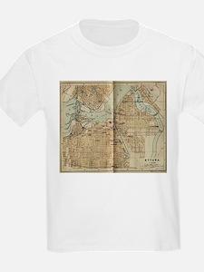 Vintage Map of Ottawa Canada (1894) T-Shirt