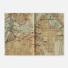 Vintage Map of Ottawa Canada (1894) 5'x7'Area Rug