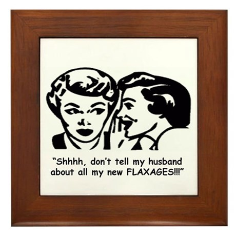 Flaxages Framed Tile