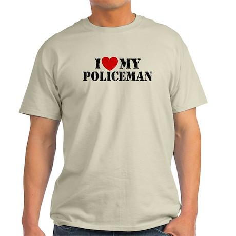 I Love My Policeman Light T-Shirt