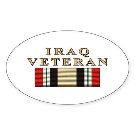 Iraq Vet Oval Sticker