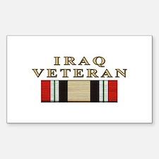 Iraq Vet Rectangle Decal