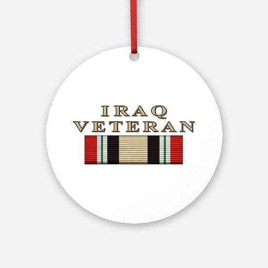 Iraq Vet Ornament (Round)