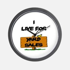 Yard Sales Wall Clock