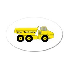 Personalized Dump Truck Wall Decal