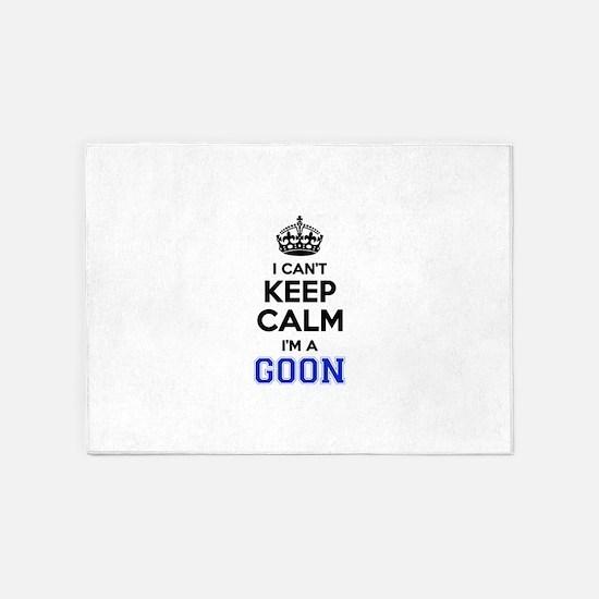 I cant keep calm Im GOON 5'x7'Area Rug