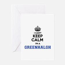 I cant keep calm Im GREENHALGH Greeting Cards